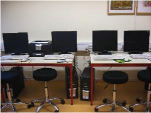 Medienraum der Janosch-Grundschule mit Computern