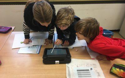 Wir lernen mit Tablets!
