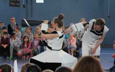 """Lesewoche 2017 in der Janosch-Grundschule mit den """"Theater-Monteuren"""" aus Köln"""