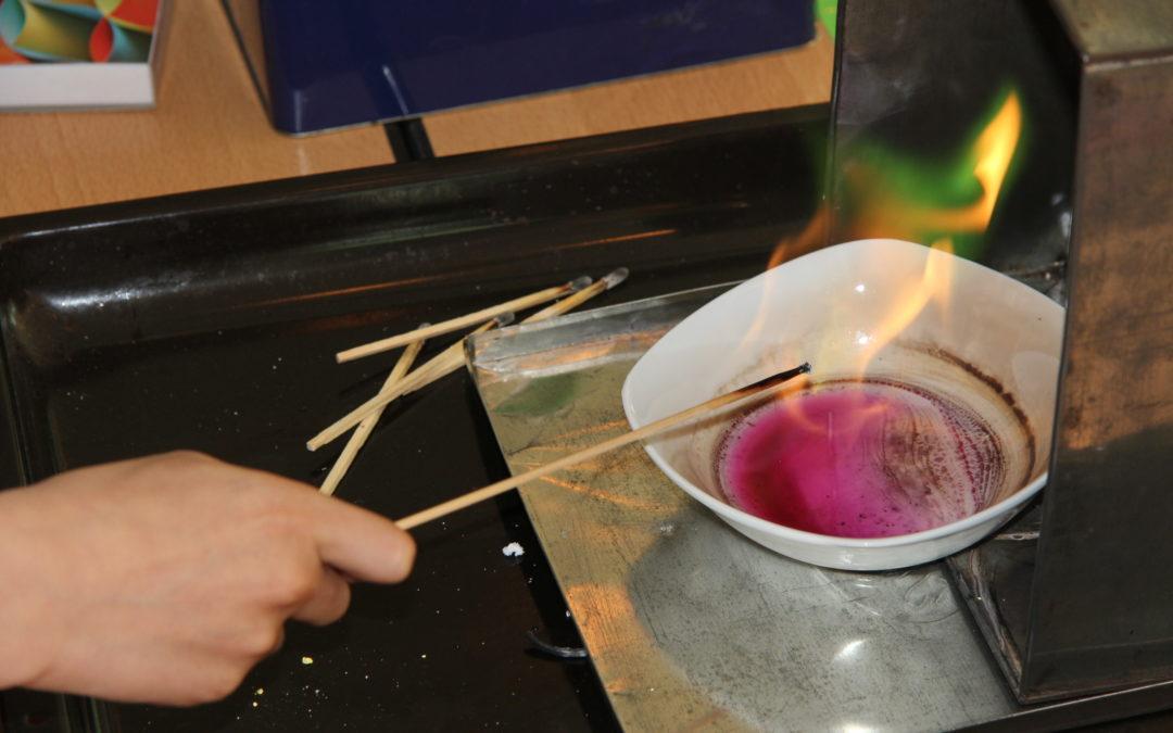 Feuerexperimente der 4. Schuljahre